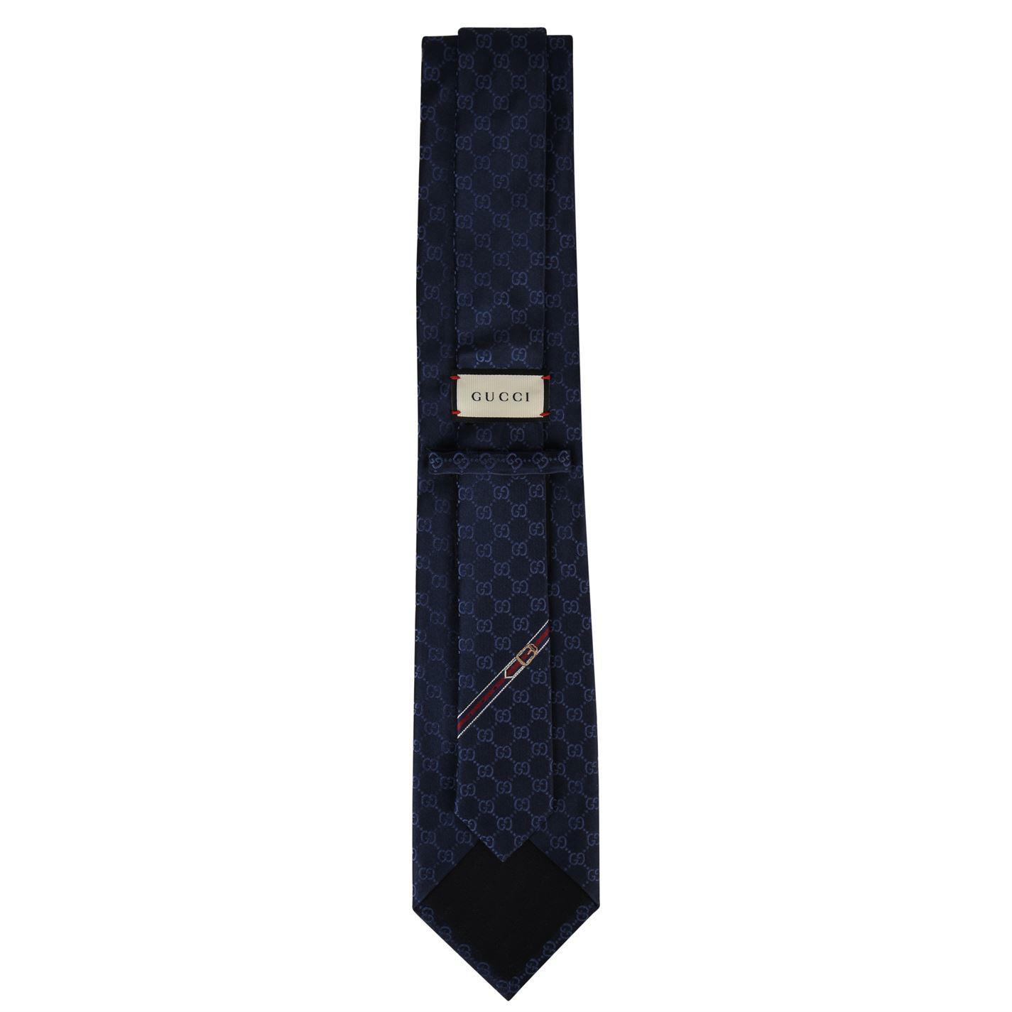 fc7304f3ec6 Gucci - Blue Monogram Tie for Men - Lyst. View fullscreen