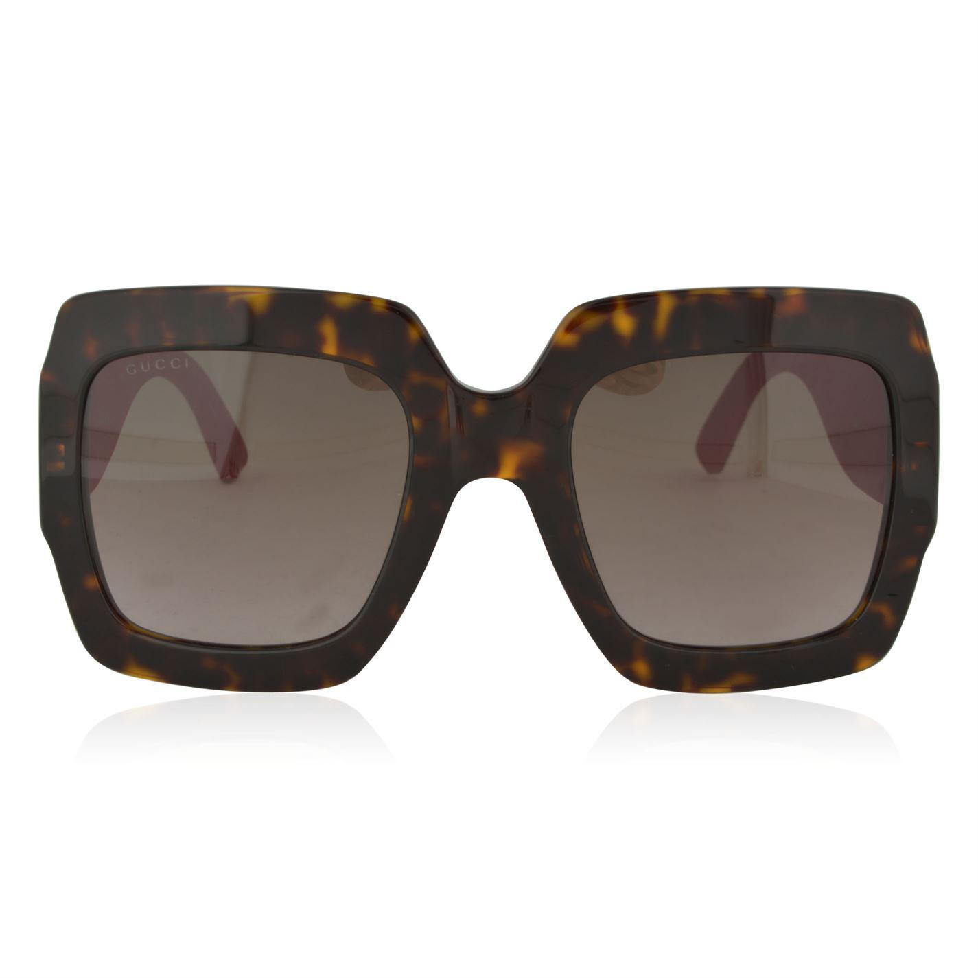 e23e876f1d1 Gucci. Women s Gg0102s Oversize Square Frame Acetate Sunglasses