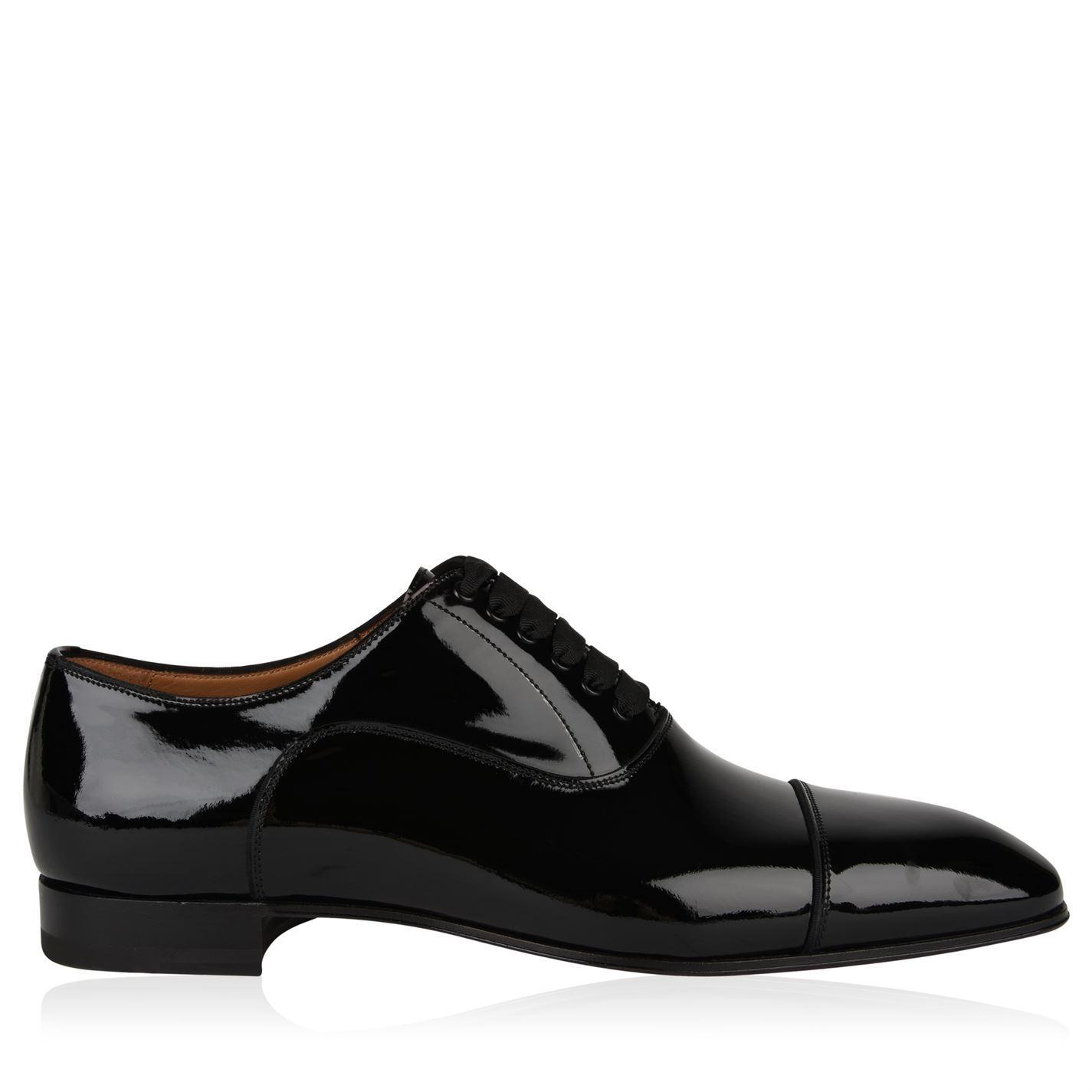 997691f175c5 Christian Louboutin Greggo Patent Shoes in Black for Men - Lyst