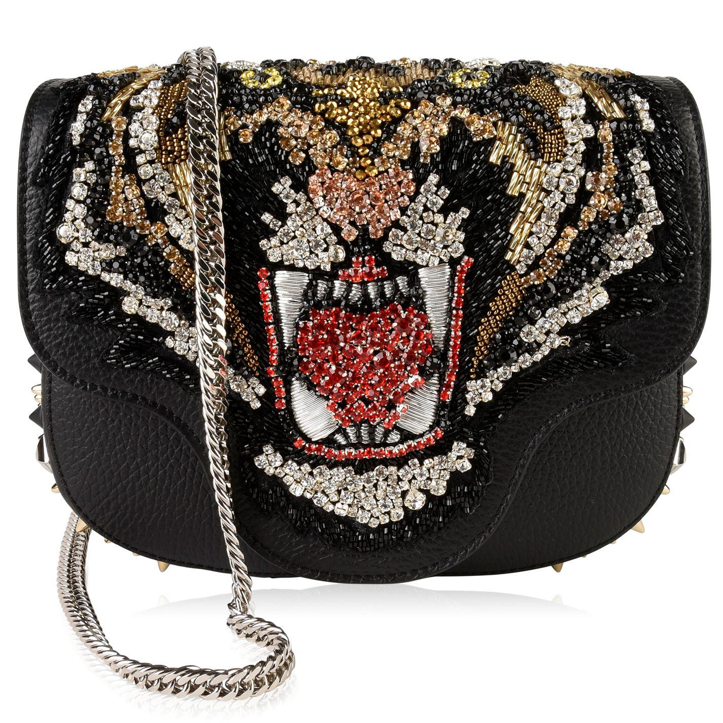 32f7417a2e2a Philipp Plein Julia Tiger Shoulder Bag in Black - Lyst
