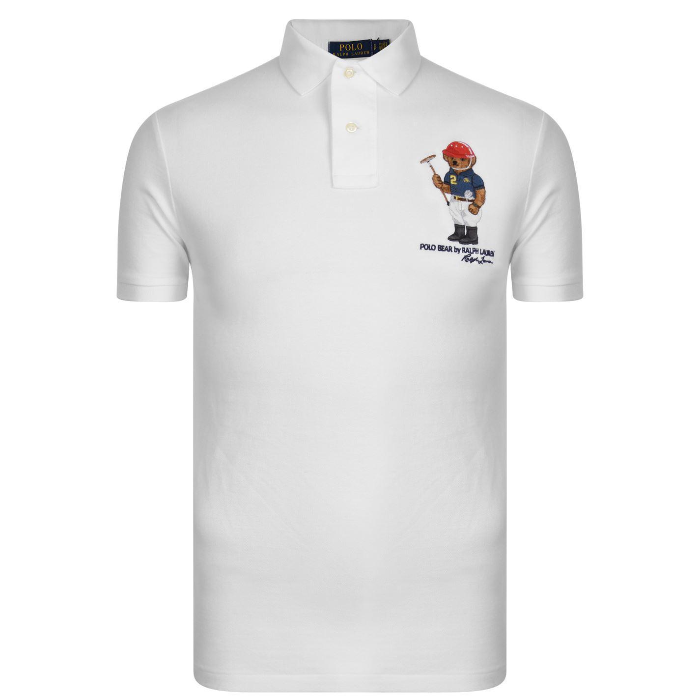 Lyst Polo Ralph Lauren Bear Polo Shirt In White For Men