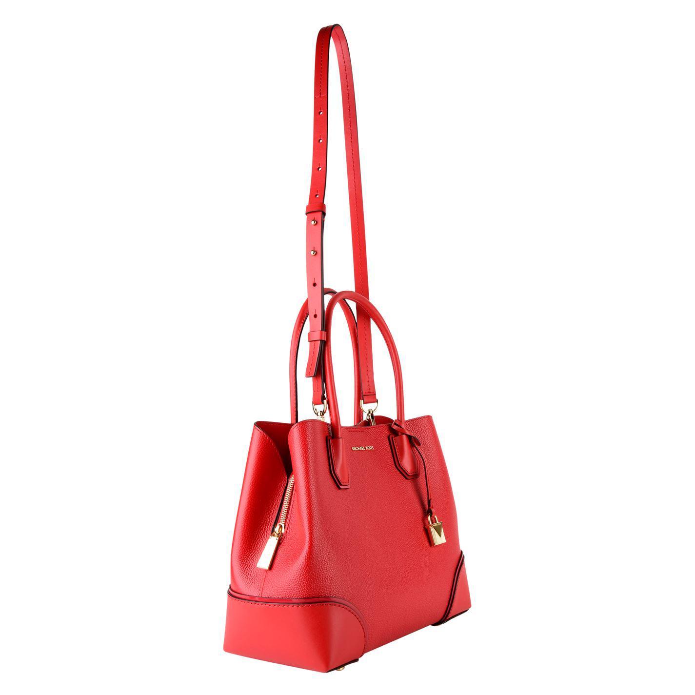 c1572e2b368397 Lyst - MICHAEL Michael Kors Annie Tote Bag in Red