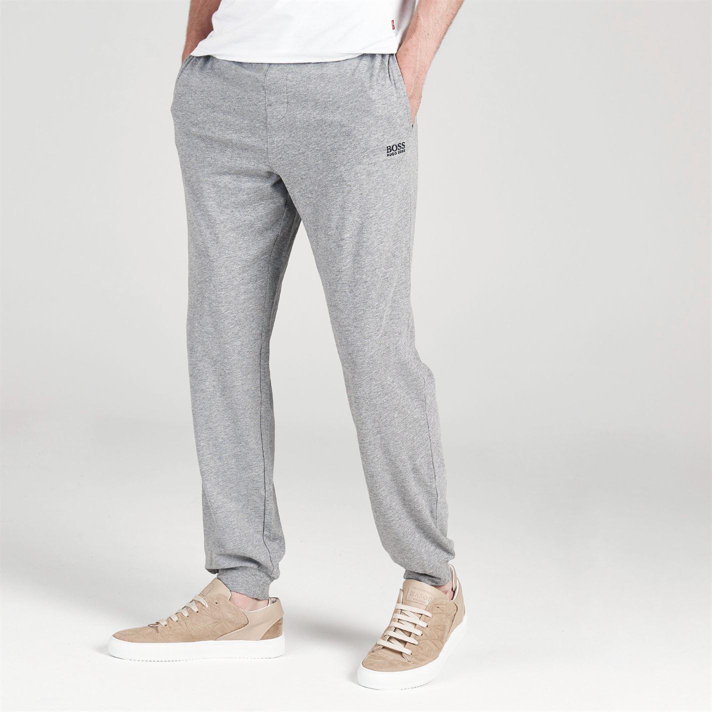 ef64495cf Lyst - BOSS by Hugo Boss Cuffed Jogging Bottoms in Gray for Men