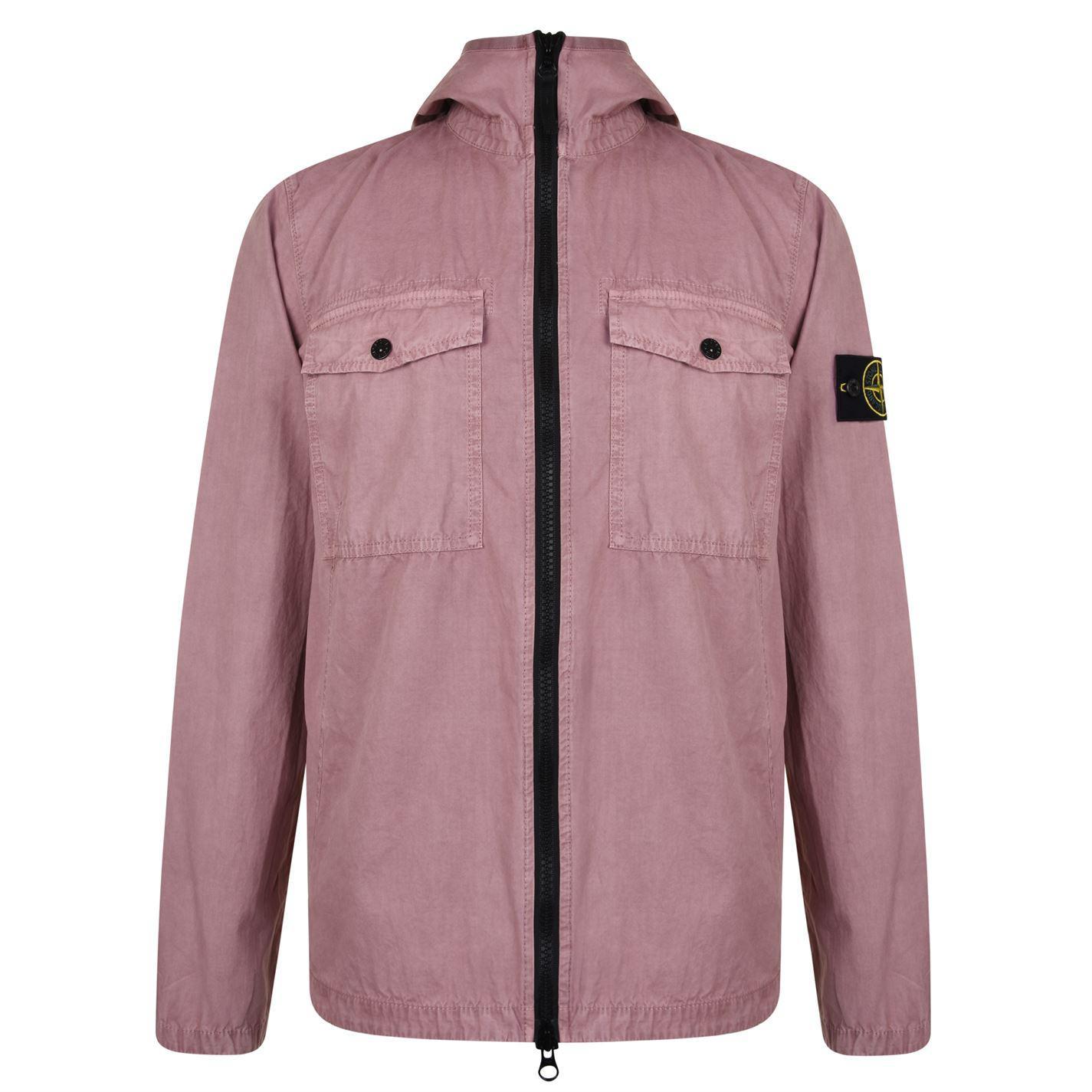 d17c9c96cc50 Stone Island Brush Canvas Hooded Jacket for Men - Lyst