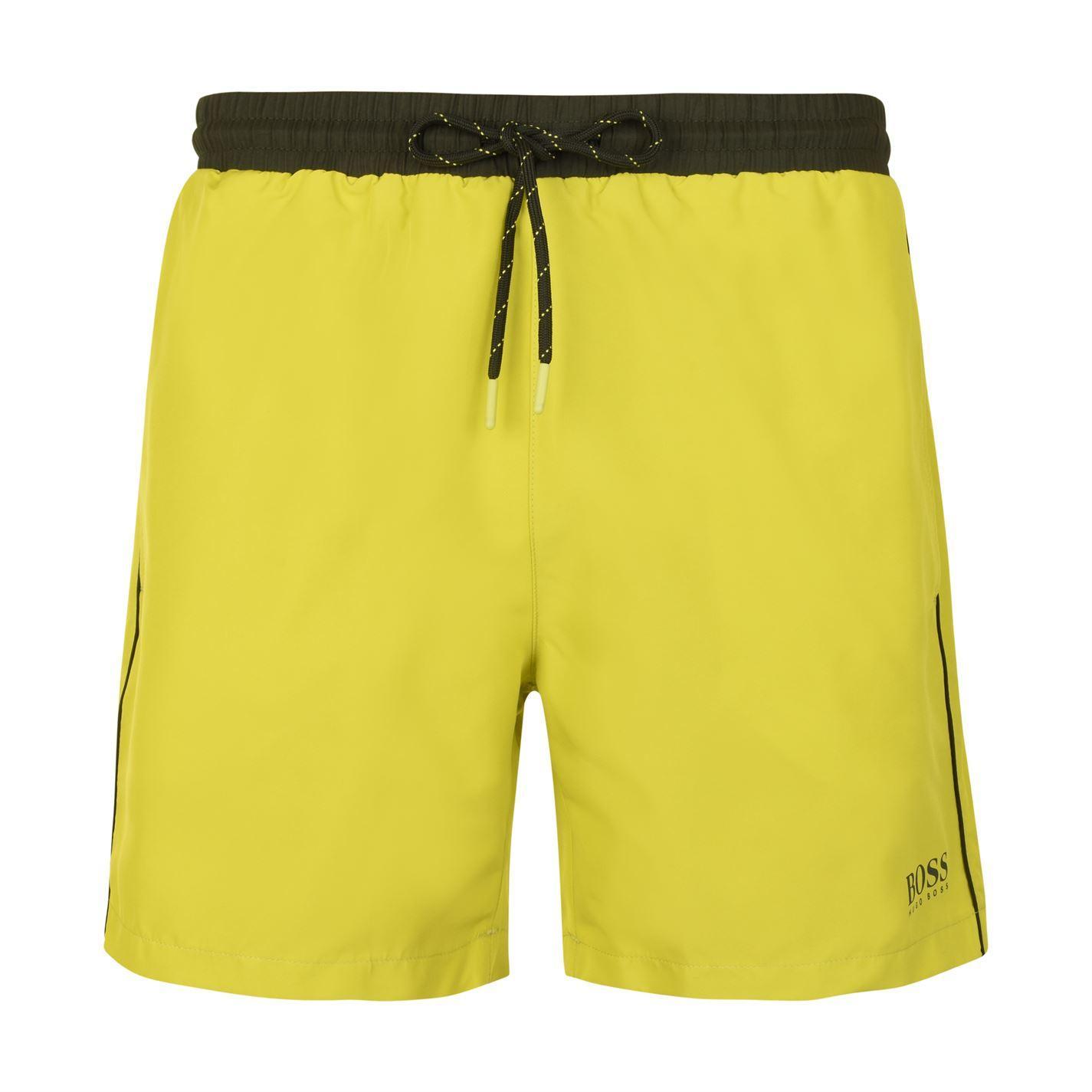 a36ef496 Lyst - BOSS by Hugo Boss Starfish Swim Shorts in Yellow for Men