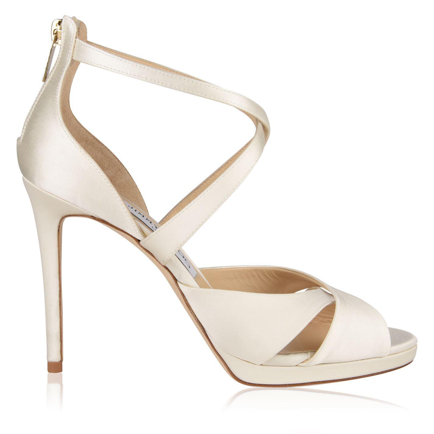 193afd4a2e8 Lyst - Jimmy Choo Lorina 100 Heeled Sandals in White