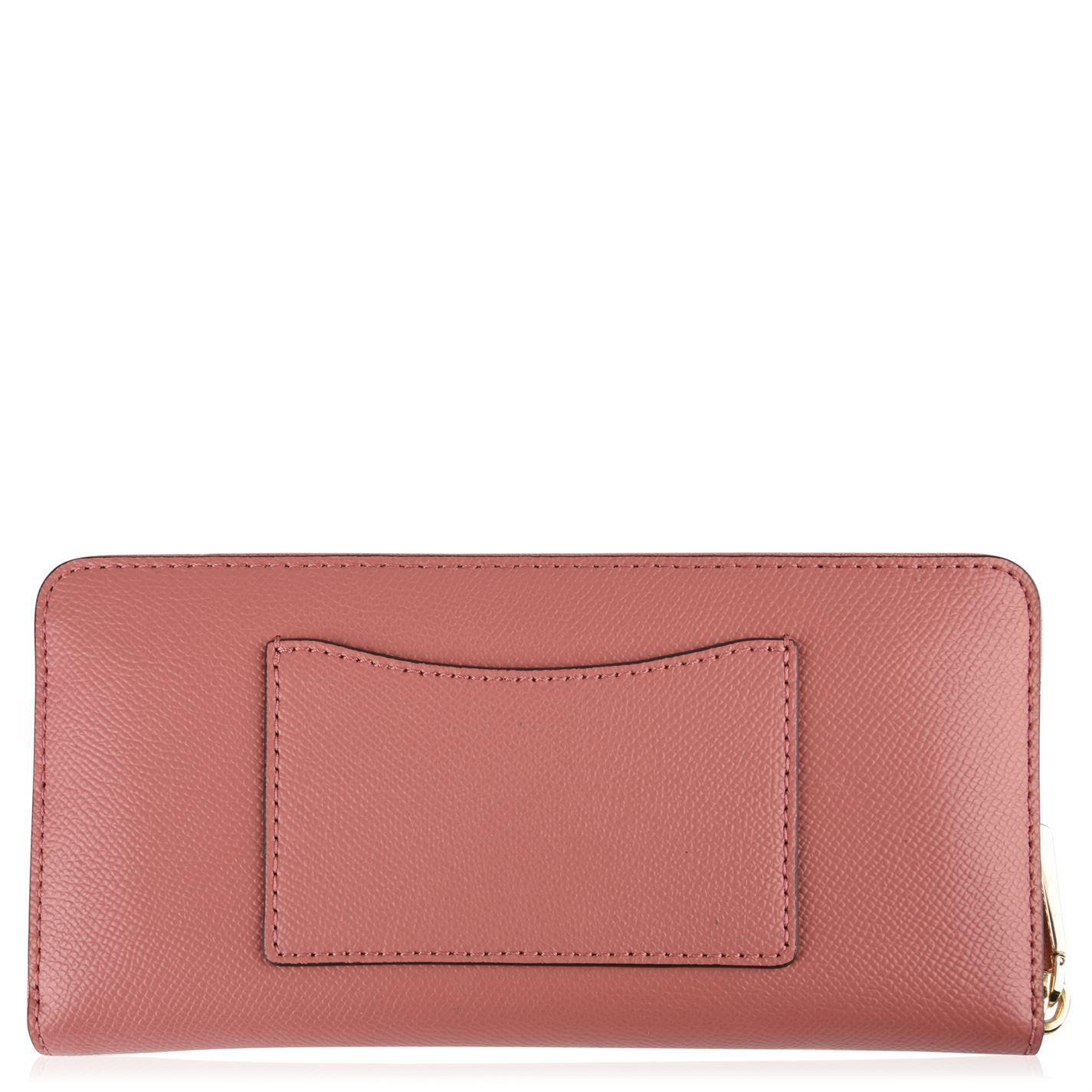 e03761f90f19 MICHAEL Michael Kors - Pink Leather Continental Wallet - Lyst. View  fullscreen
