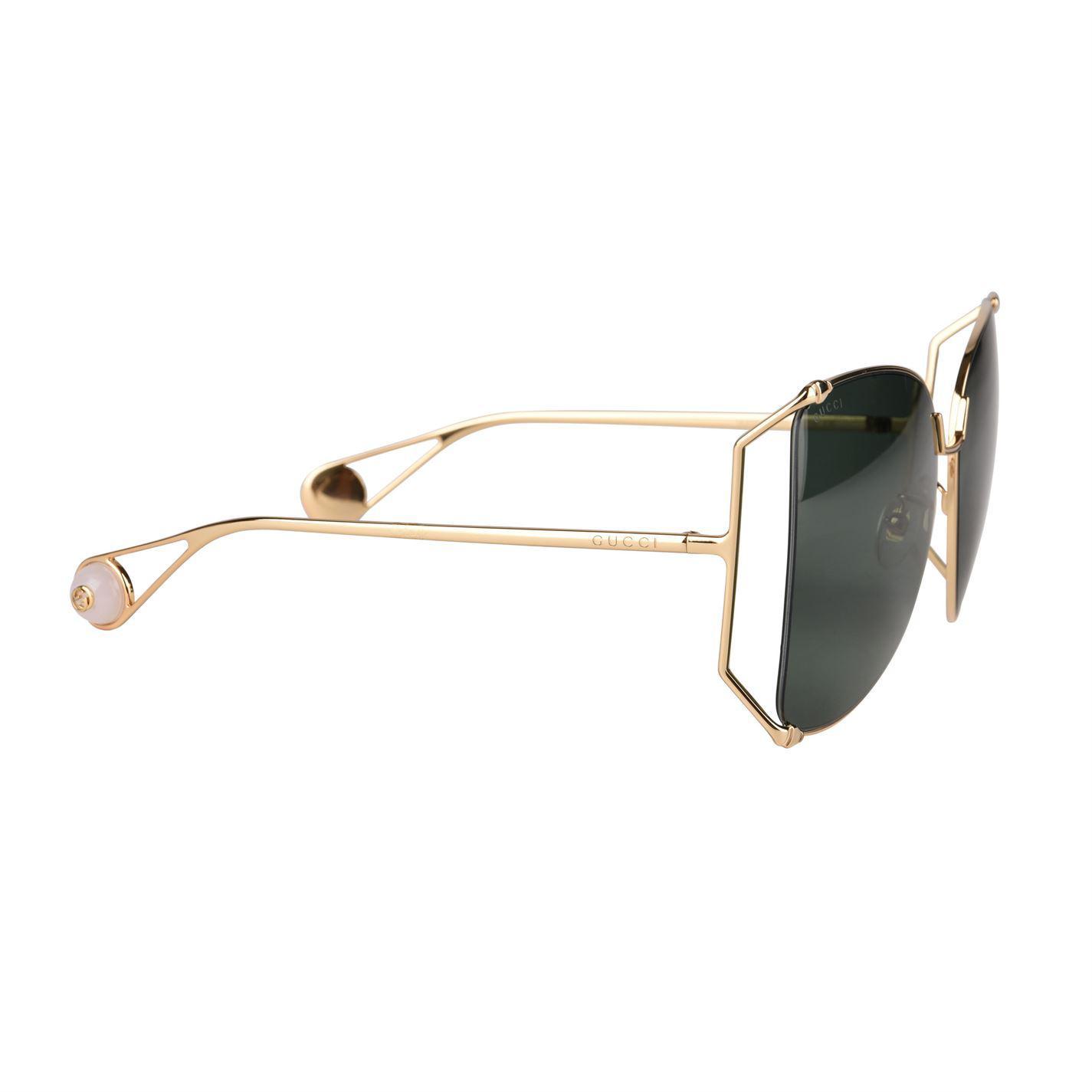 ab93aec3a7e Gucci - Multicolor Gg0252s Round Frame Sunglasses - Lyst. View fullscreen