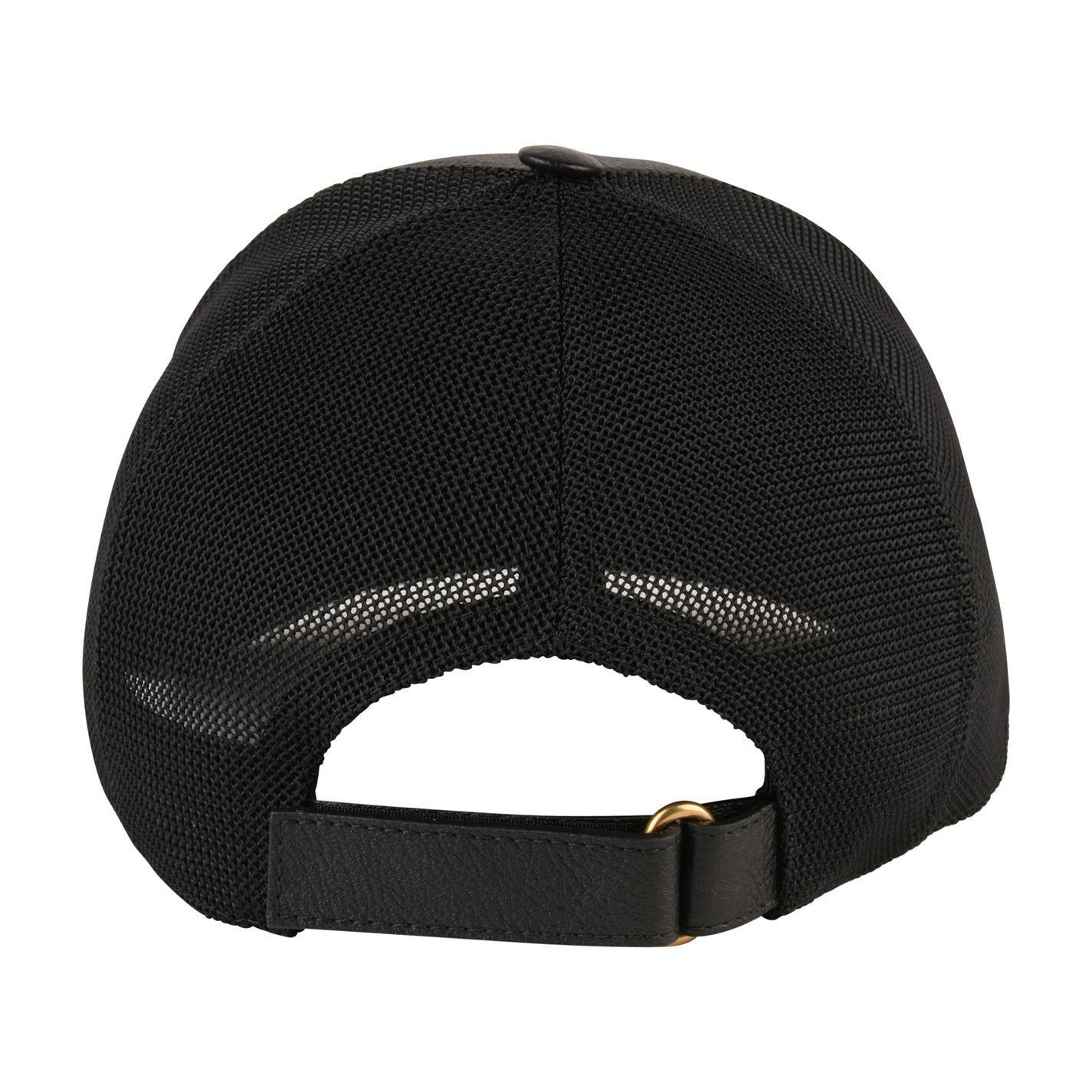 624bc20c7c4 Gucci - Black Fake Logo Leather Cap for Men - Lyst. View fullscreen