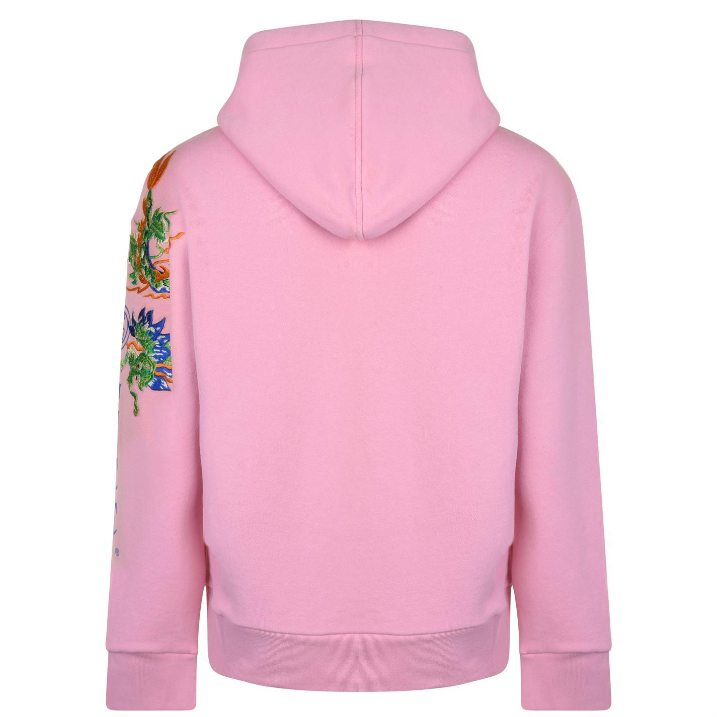 cb0eb3acaa9 Gucci - Pink Fake Logo Embroidered Hooded Sweatshirt for Men - Lyst. View  fullscreen