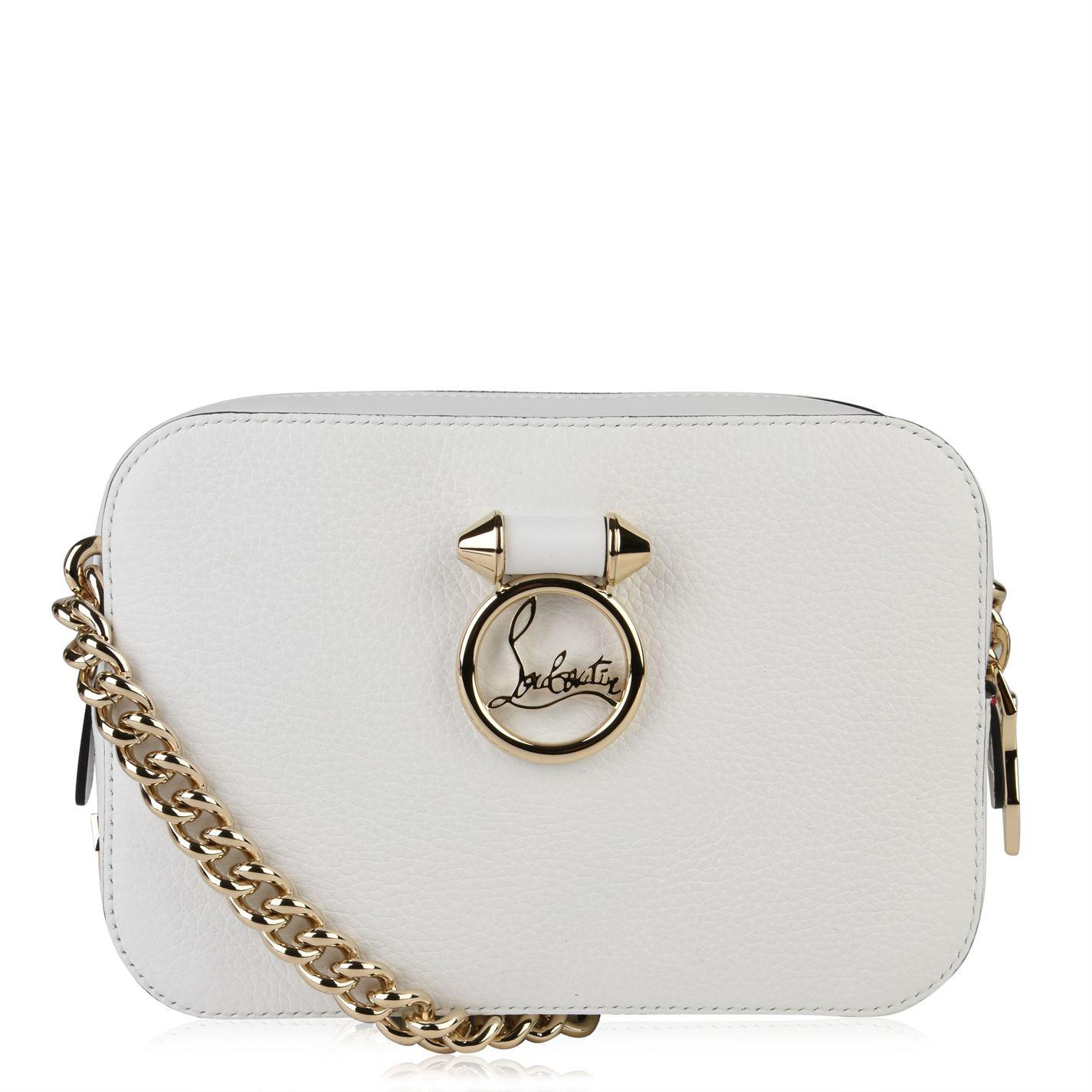 cc8446db704 Christian Louboutin Ruby Mini Shoulder Bag in White - Lyst