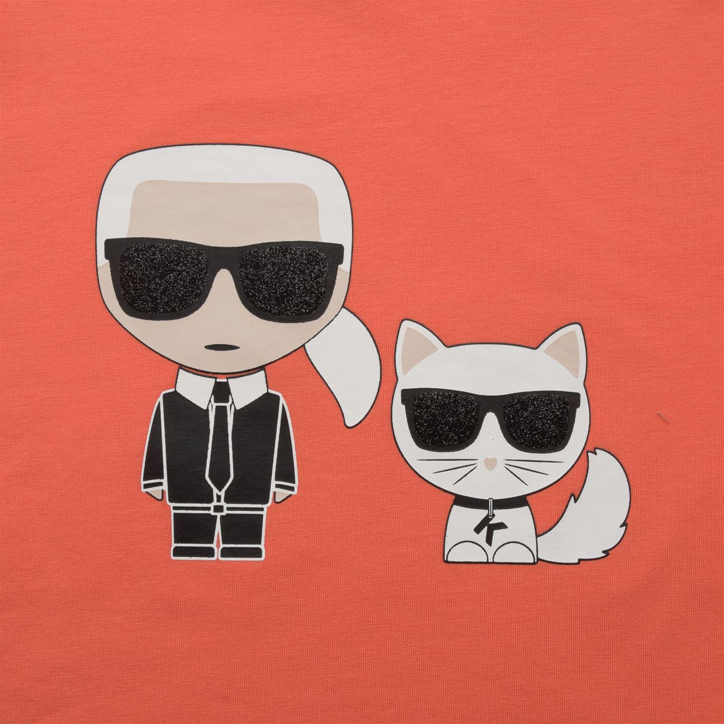 9a6358834aac6 Lyst - Karl Lagerfeld Children Girls Short Sleeve T Shirt