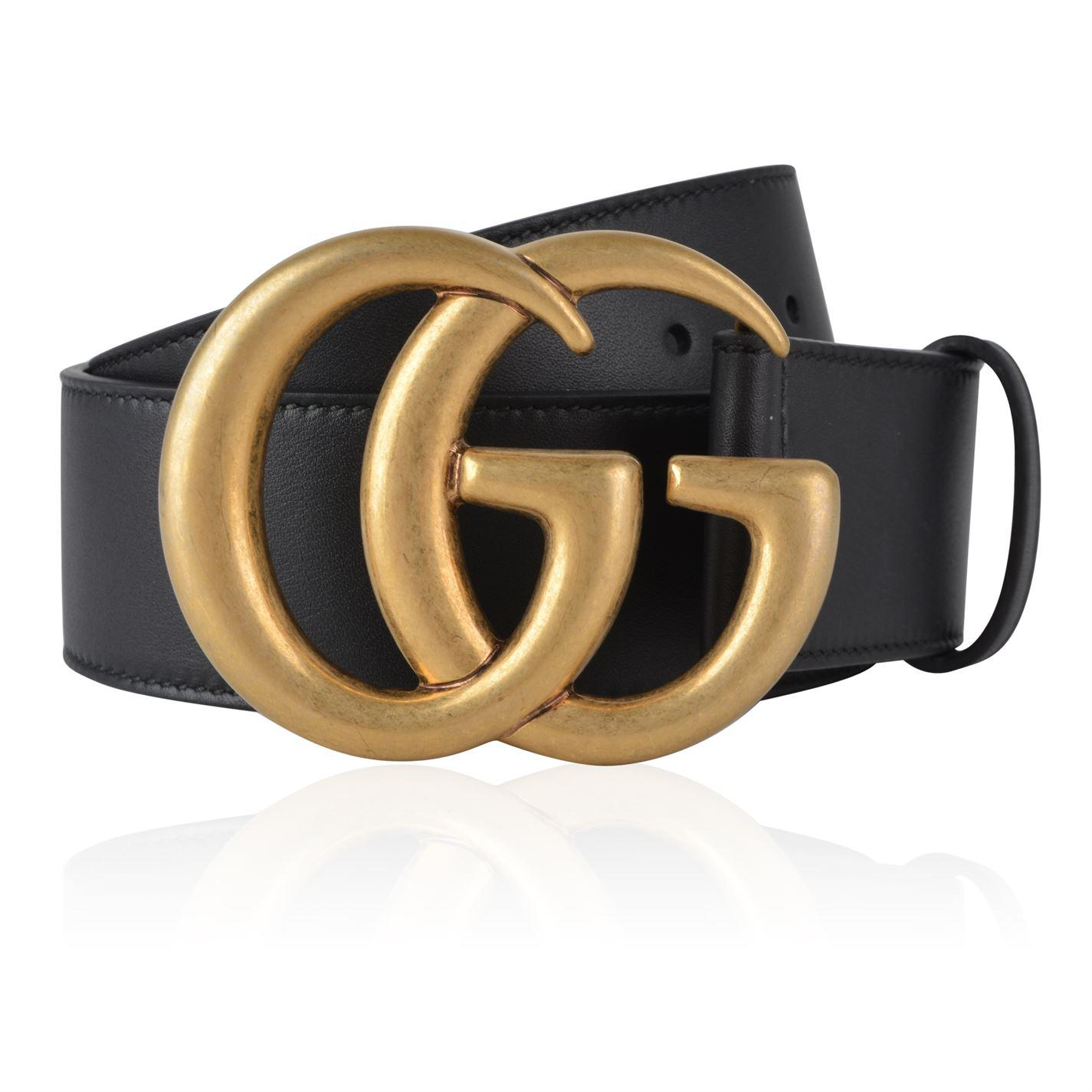 5562def3a622 Lyst - Gucci Double G Buckle Belt in Black