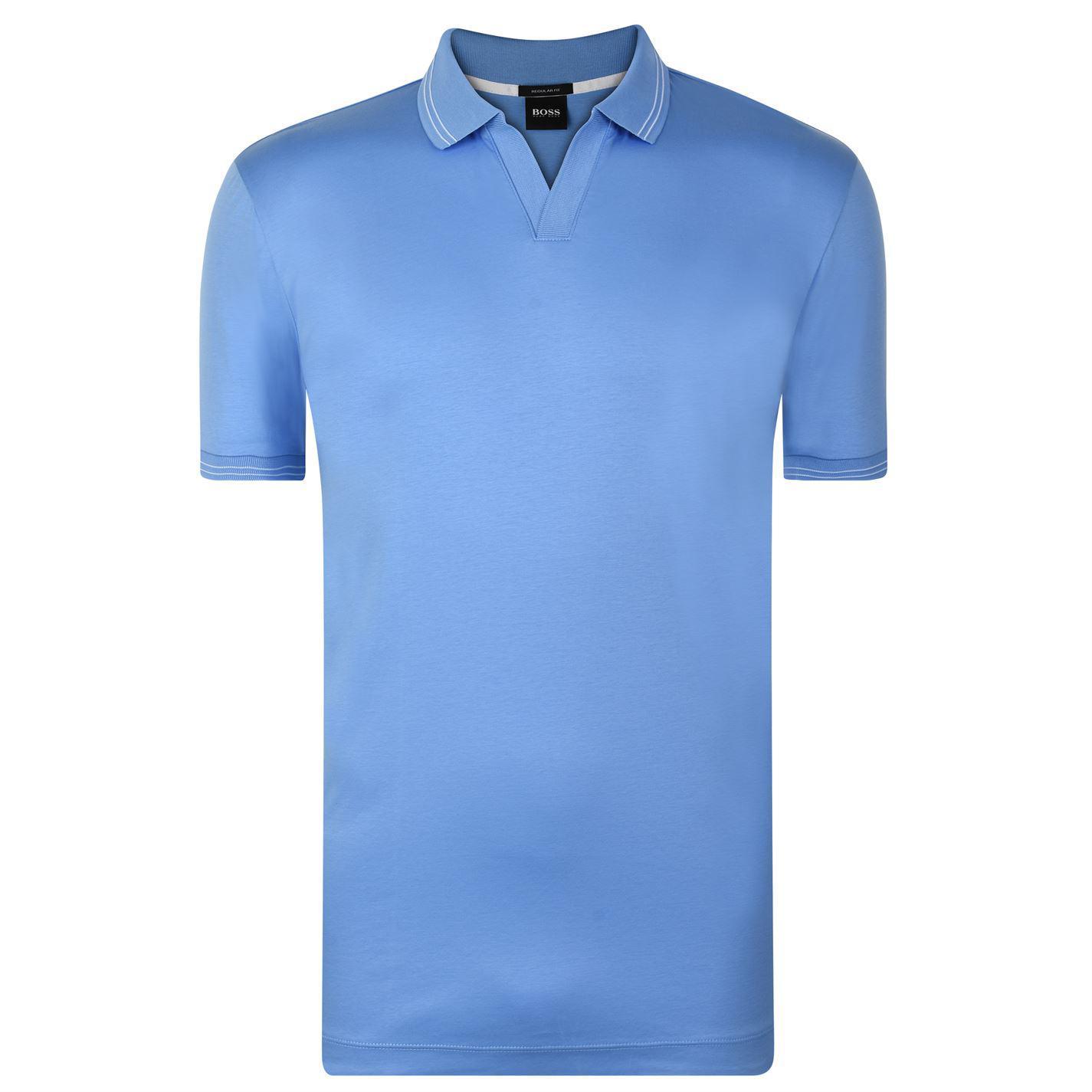 374e30a9b BOSS Parley Skip Polo Shirt in Blue for Men - Lyst