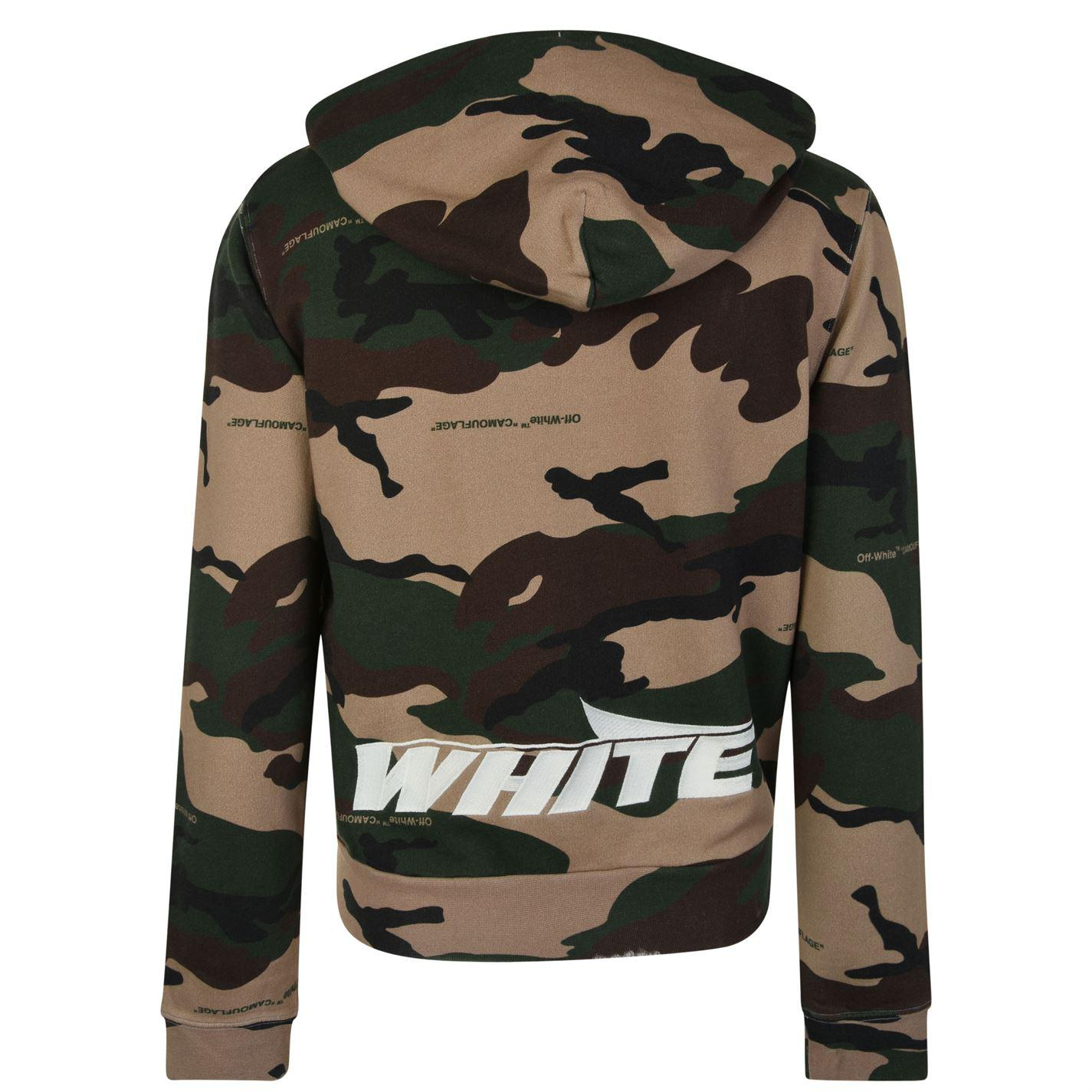 1946664f3257 Lyst - Off-White c o Virgil Abloh Camouflage Zip Hooded Sweatshirt ...