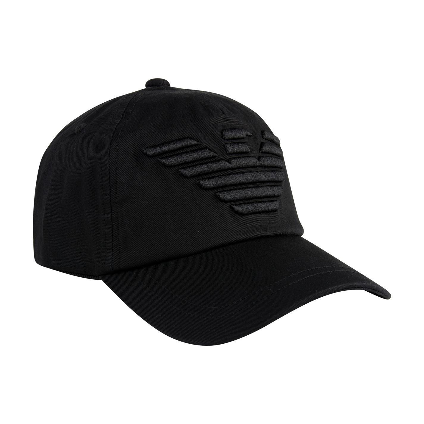 e4a4e56b9f9 Lyst - Emporio Armani Eagle Cap in Black for Men