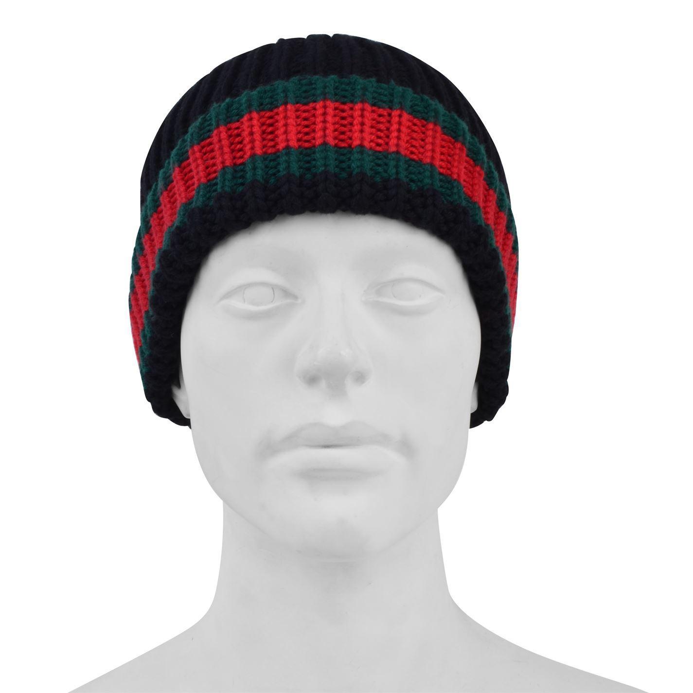 Gucci - Black Web Trim Beanie Hat for Men - Lyst. View fullscreen e03eab6f1a57