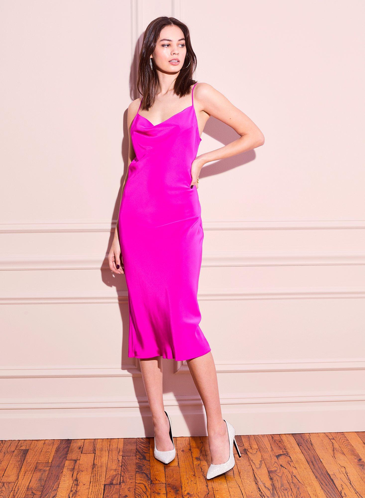 89d4b5a88091 Lyst - Fleur du Mal Cowl Neck Slip Dress in Pink - Save 25%