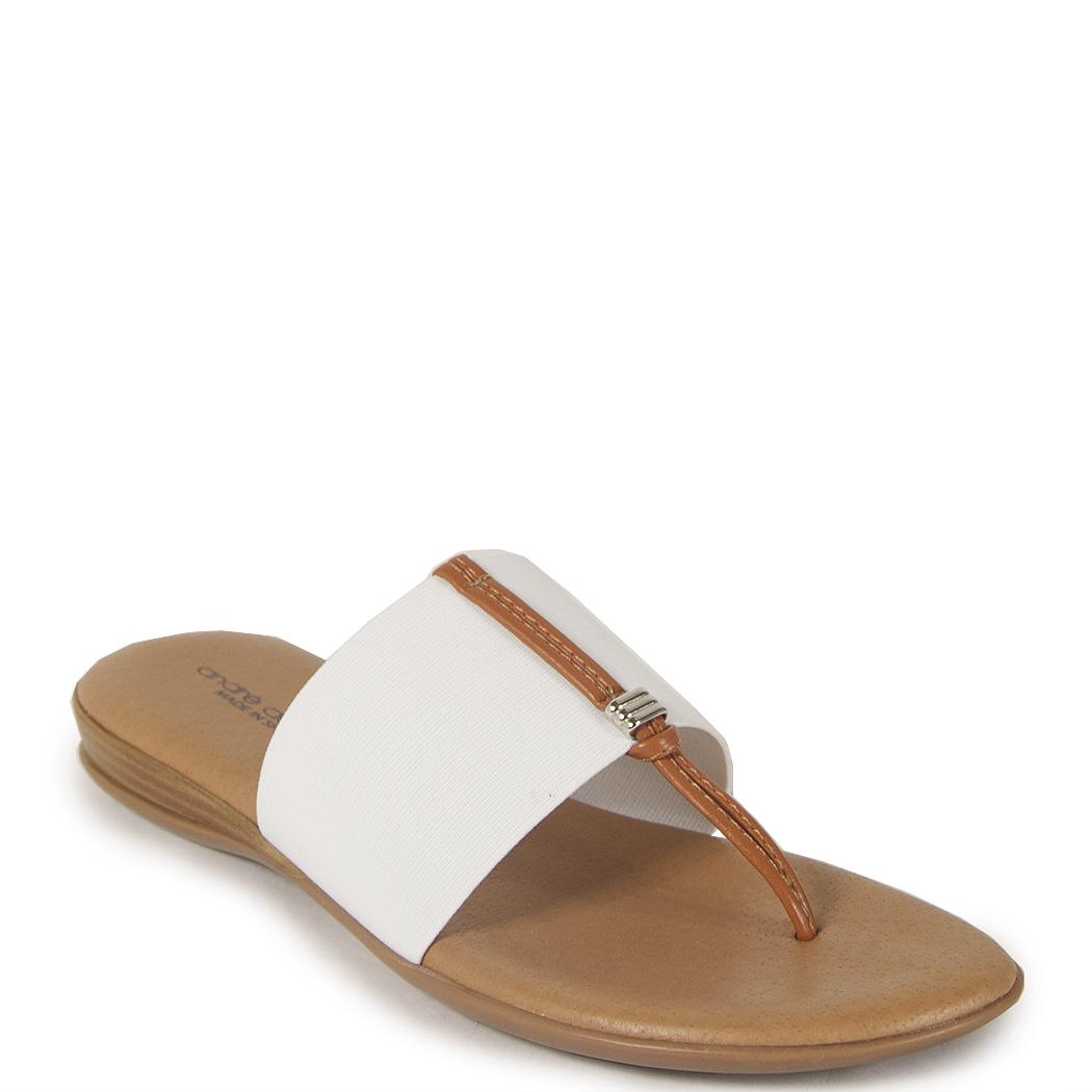 Andre assous Flat Slide in White