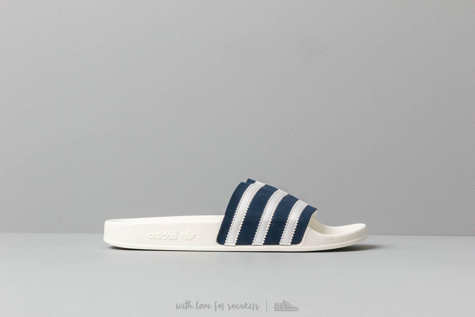 88013aeaf1ea Adidas Originals - Adidas Adilette Collegiate Navy  Ftw White  Off White  for Men -. View fullscreen