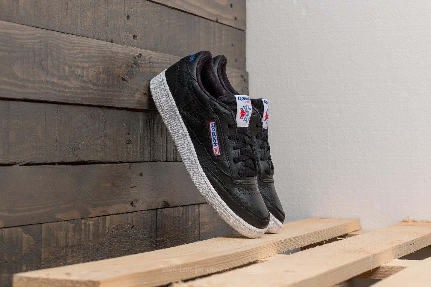 6a349f8cf66 Lyst - Reebok Reebok Club C 85 So Black  White  Vital Blue in Black ...