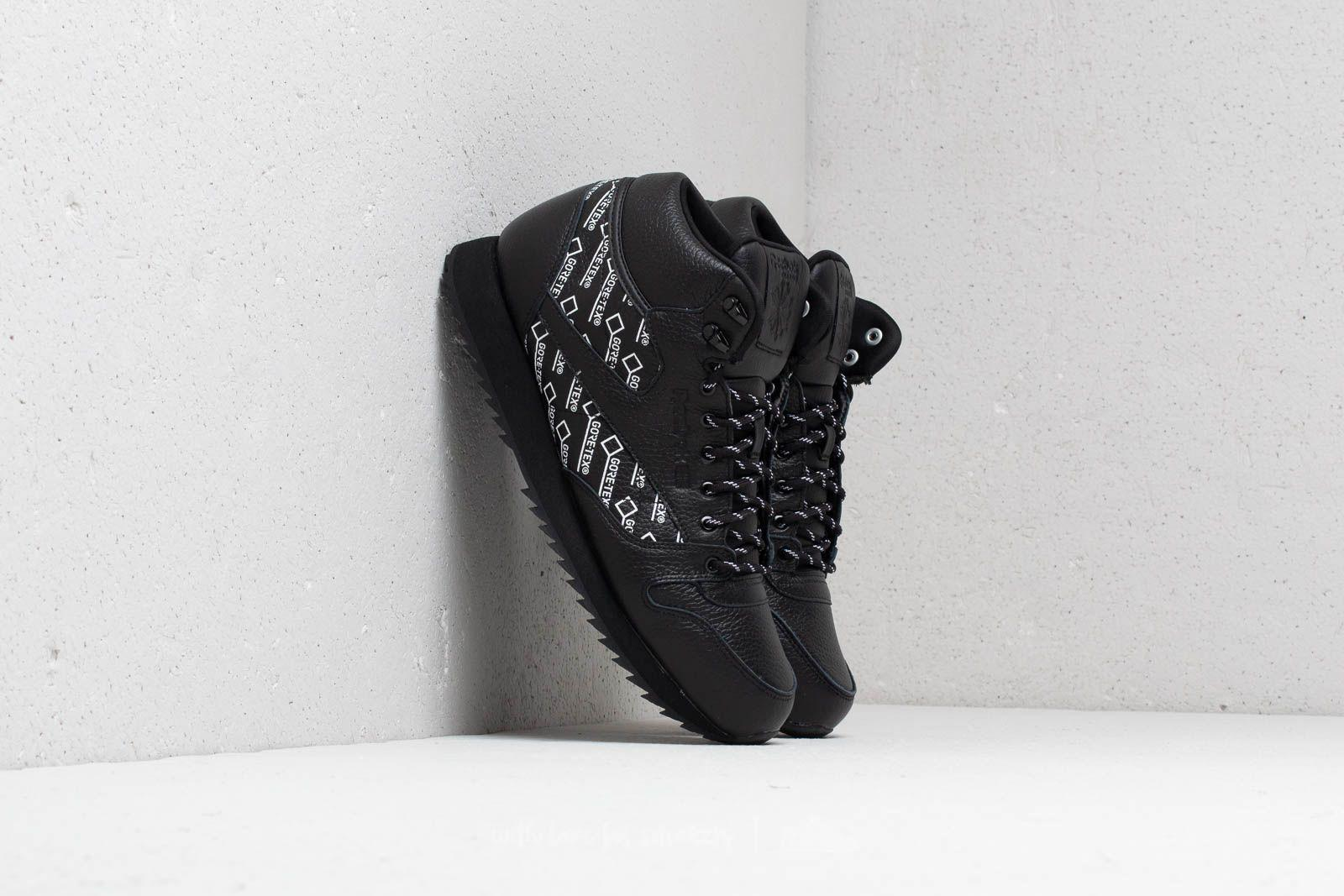 bd2711701955 Lyst - Reebok Reebok Cl Leather Mid Ripple Gore-tex Black  White in ...