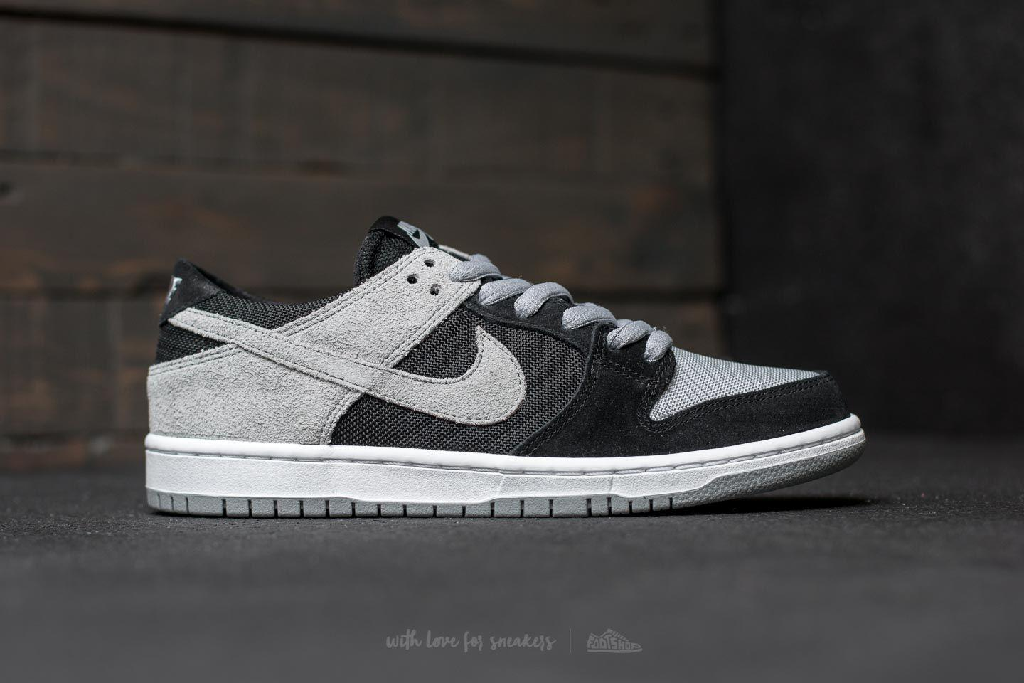 info for de06c 7e1d9 ... germany lyst nike sb zoom dunk low pro black wolf grey white white for  men 75f1a