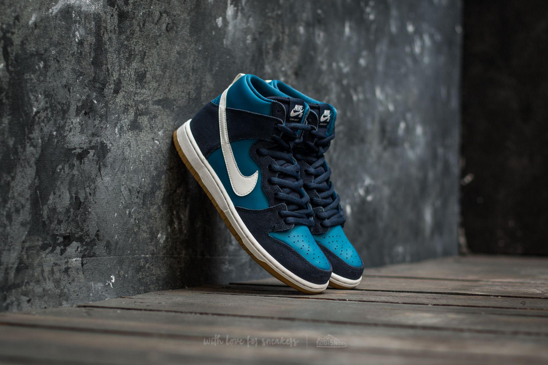 7bcb4abcc2 ... coupon lyst nike sb zoom dunk high pro obsidian white industrial blue  in 444fc c2f33