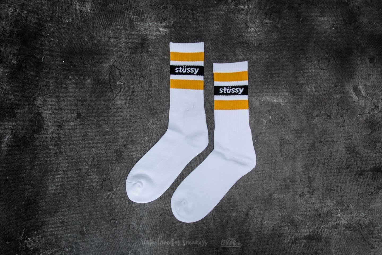 Lyst - Stussy Stripe Crew Socks White for Men 06b8aa012885
