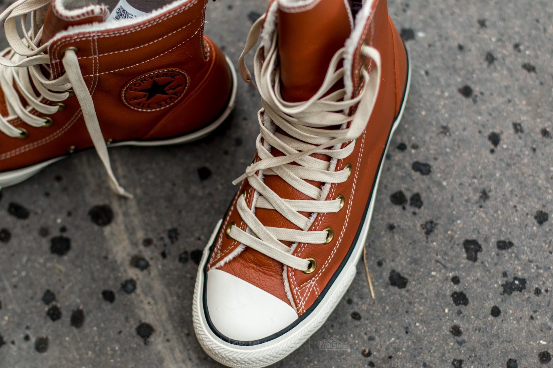 Lyst - Converse Chuck Taylor All Star Hi-rise Boot Leather + Fur ... 0a11f6f61b00f