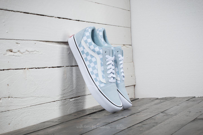 7575a0702eef Lyst - Vans Old Skool Lite (suede  Canvas) Baby Blue  True White in ...