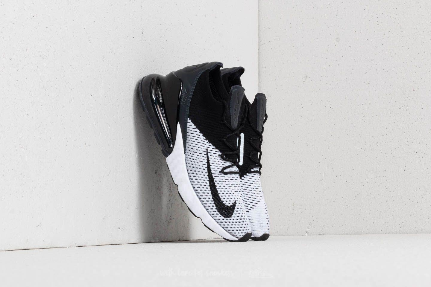 Lyst - Nike Air Max 270 Flyknit White  Black-anthracite in Black for Men 4e6ad7a17