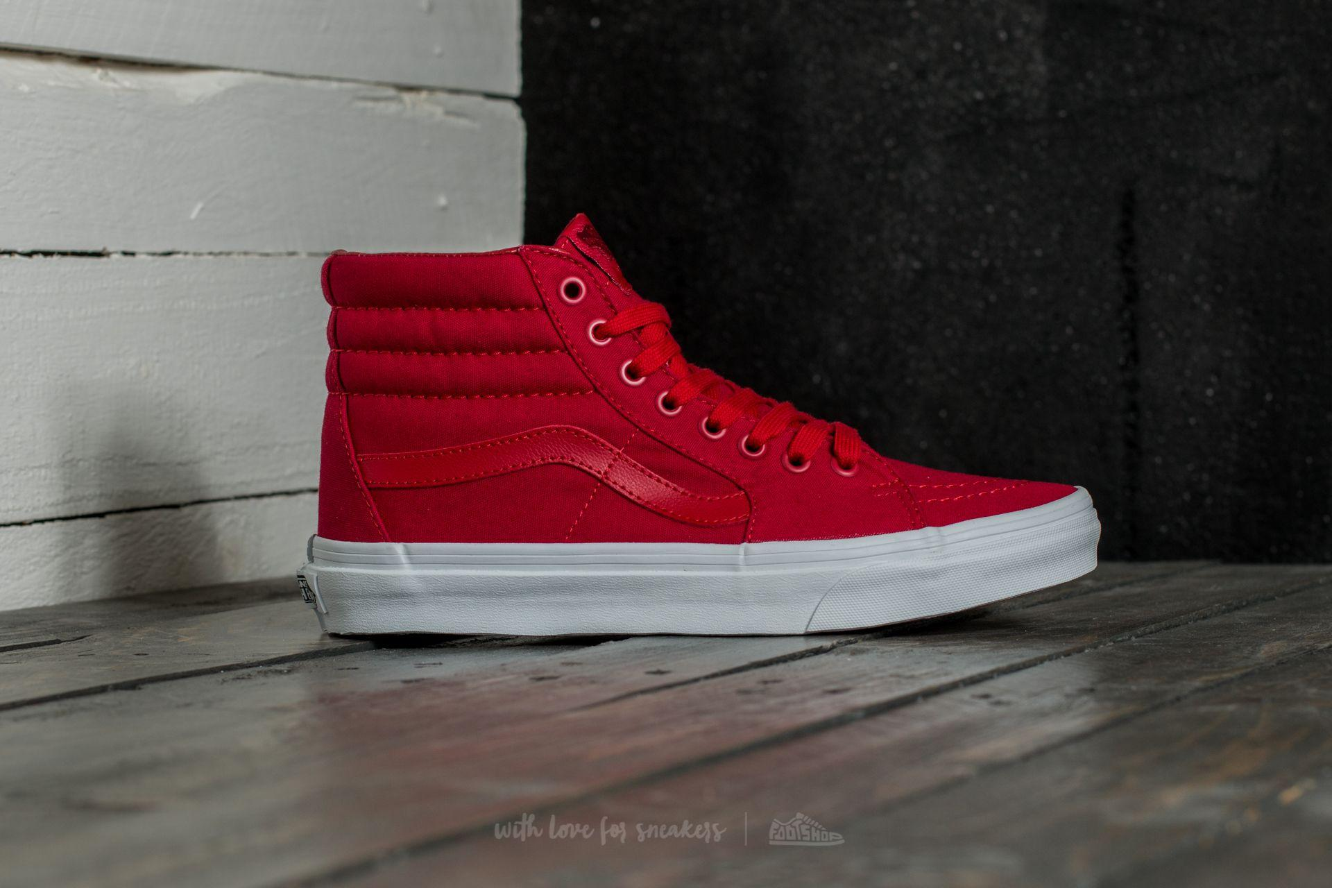 d7497a42d13 Lyst - Vans Sk8-hi (mono Canvas) Chili Pepper  True White in Red for Men