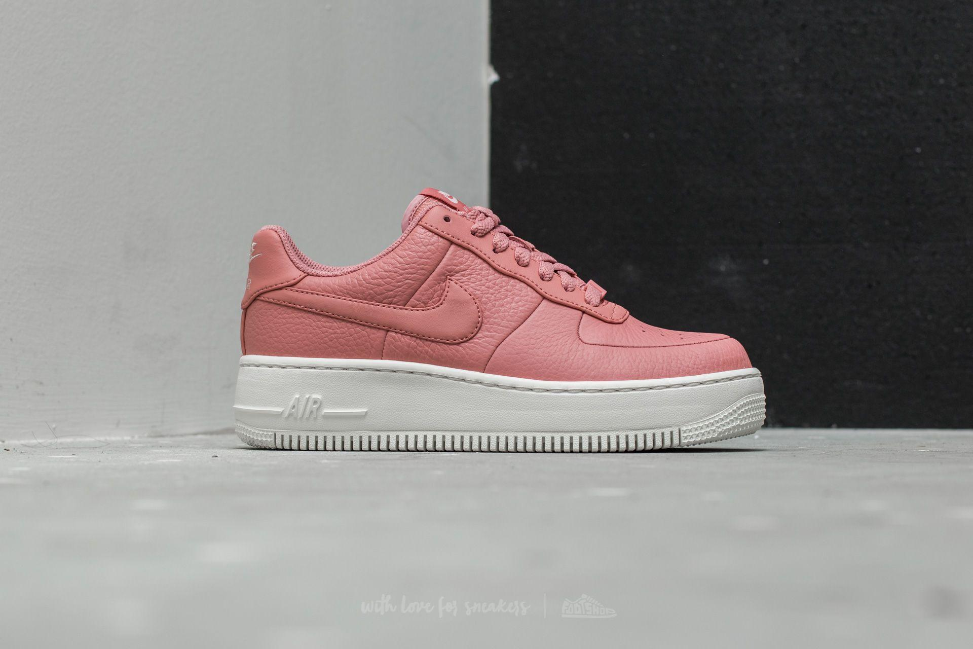 fc6be4beb Nike W Air Force 1 Upstep Red Stardust/ Red Stardust in Red - Lyst