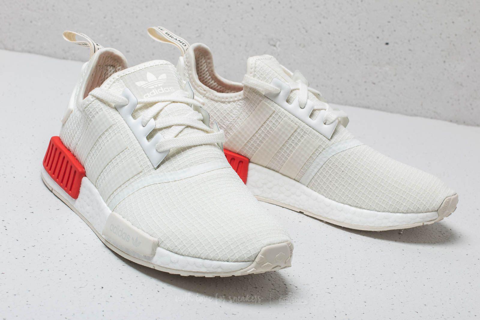 9c150b1530c26 Lyst - adidas Originals Adidas Nmd r1 Off White  Off White  Lush Red ...