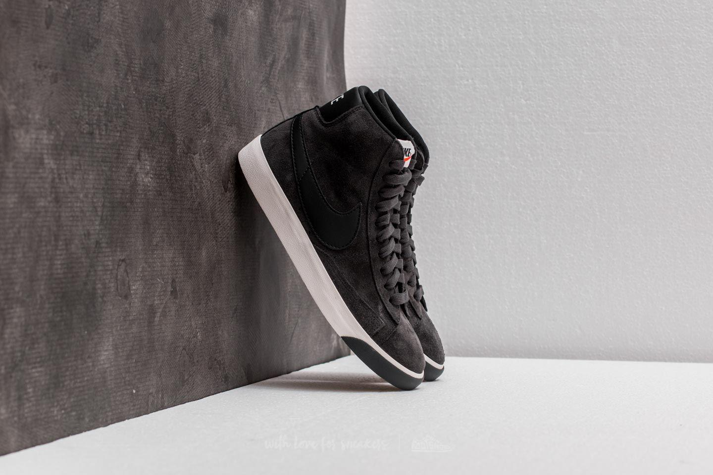 wholesale dealer e0fc7 0ae22 Nike Wmns Blazer Mid Vintage Suede Anthracite  Black-ivory in Black ...