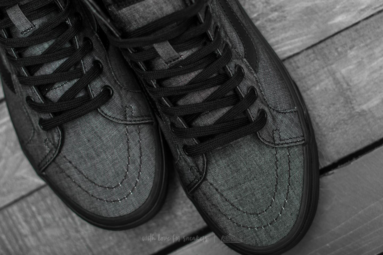 23832b6cf6 Lyst - Vans Sk8-hi Reissue (mono Chambray) Black  Black in Black for Men