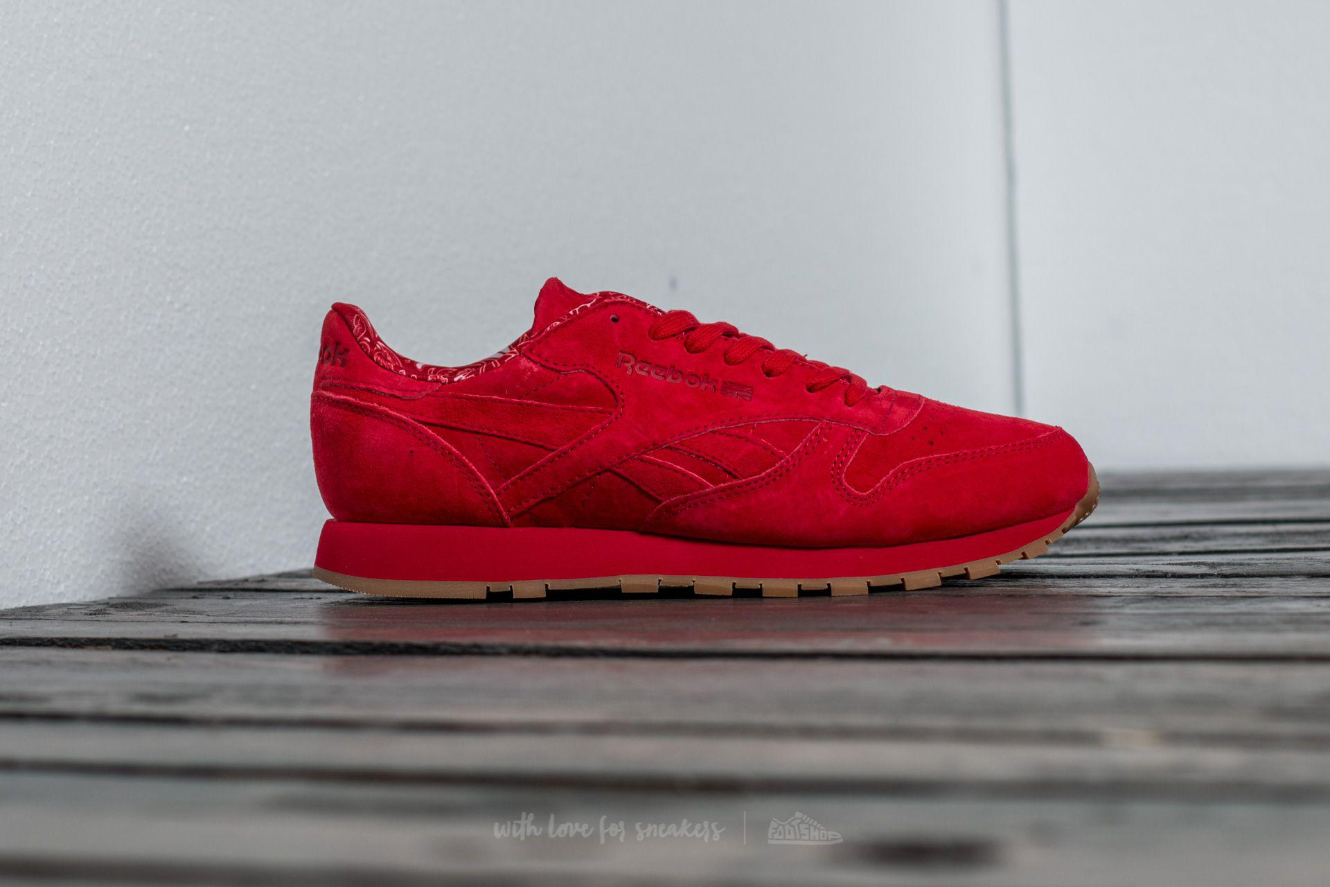 8b05c591d9c1 Lyst - Reebok Classic Leather Tdc Scarlet  White-gum in Red for Men