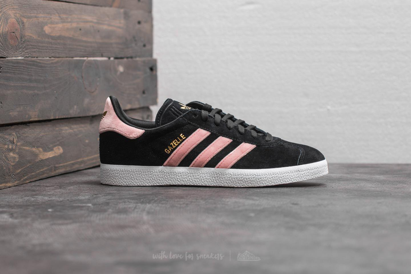 Lyst - adidas Originals Adidas Gazelle W Core Black  Raw Pink  Gold Foil 720ec6f1d