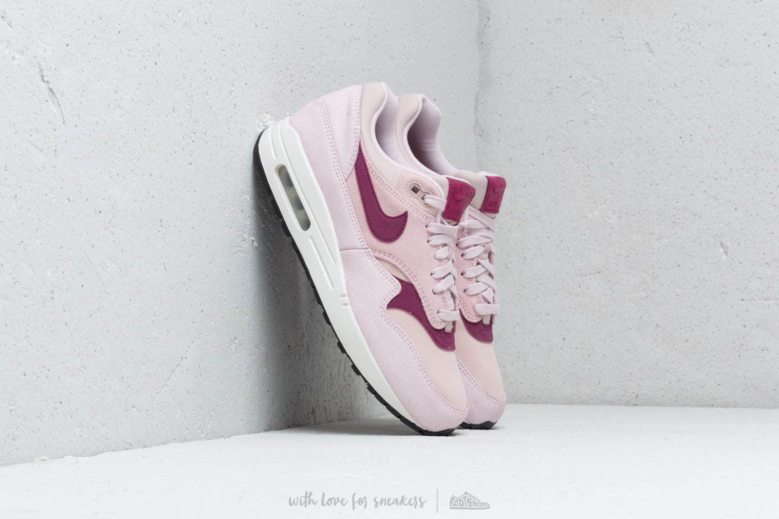 f7302f4094 Nike. Women's Wmns Air Max 1 Prm Barely Rose/ True Berry-summit White