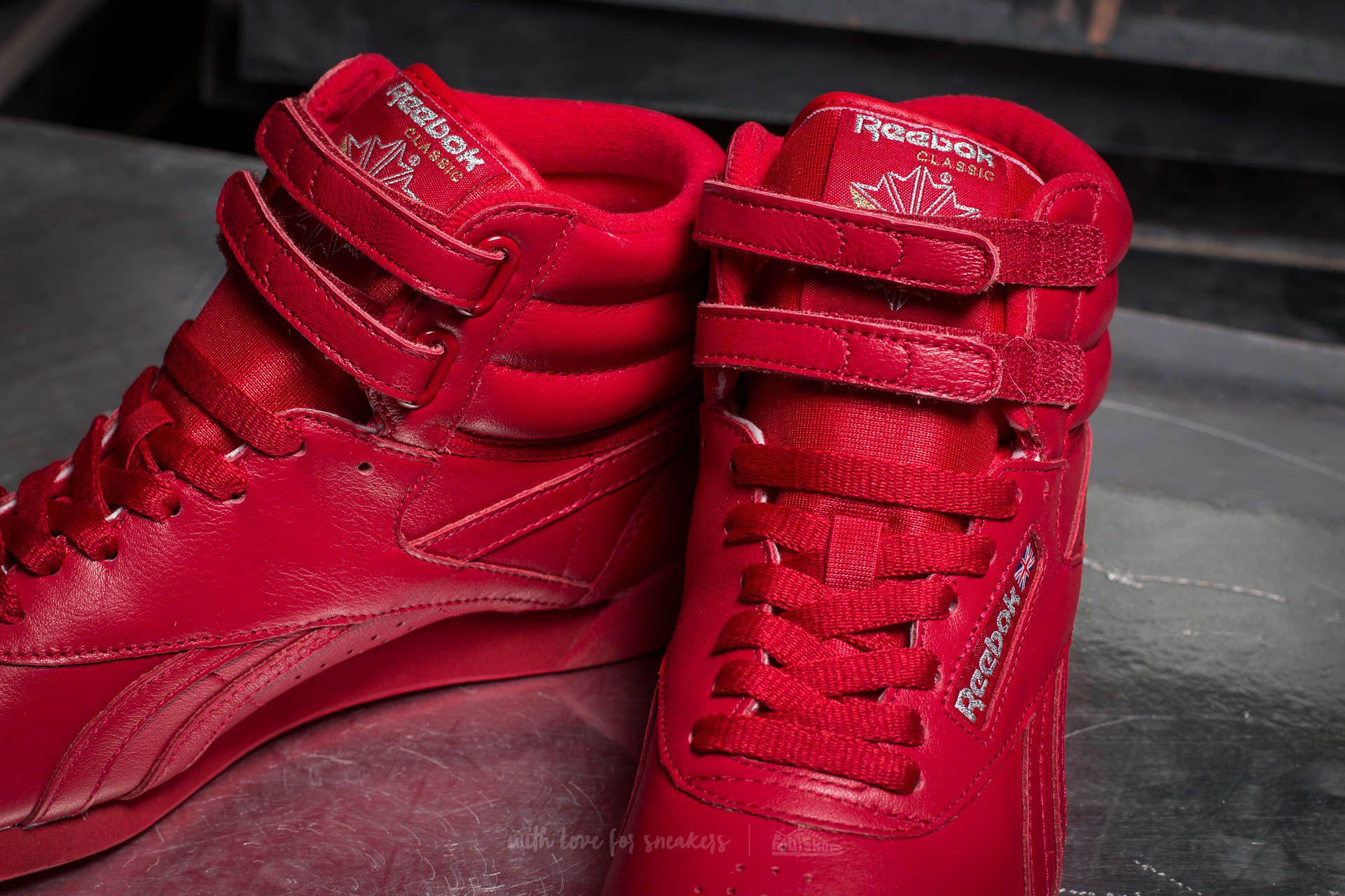 22b1d6481c6 Lyst - Reebok Freestyle Hi Og Lux Excellent Red  Grey  Gold in Red