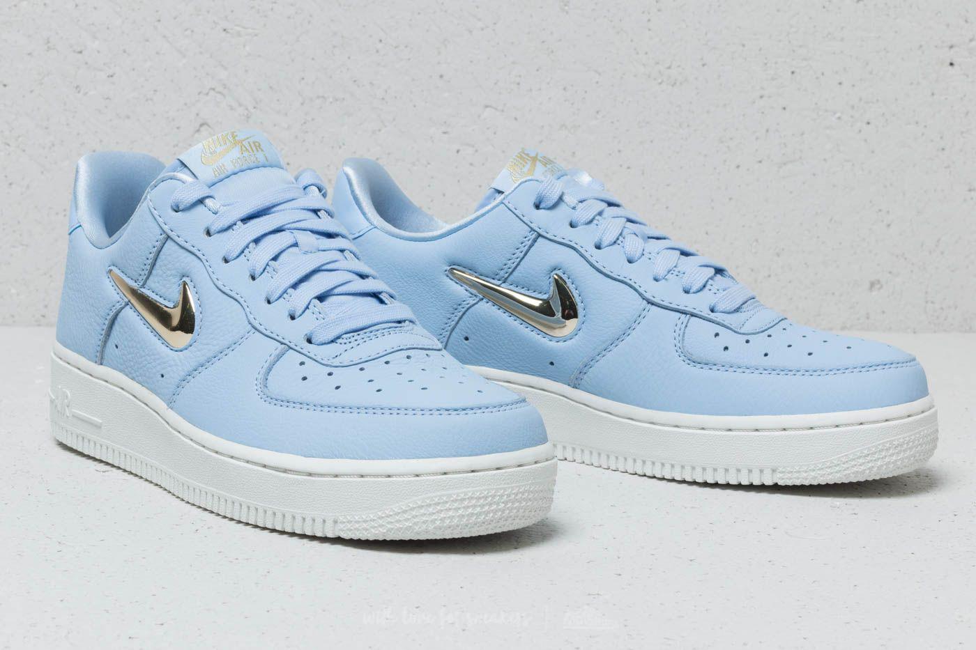 Nike Blue Wmns Air Force 1 '07 Premium Lx Royal Tint Mtlc Gold Star