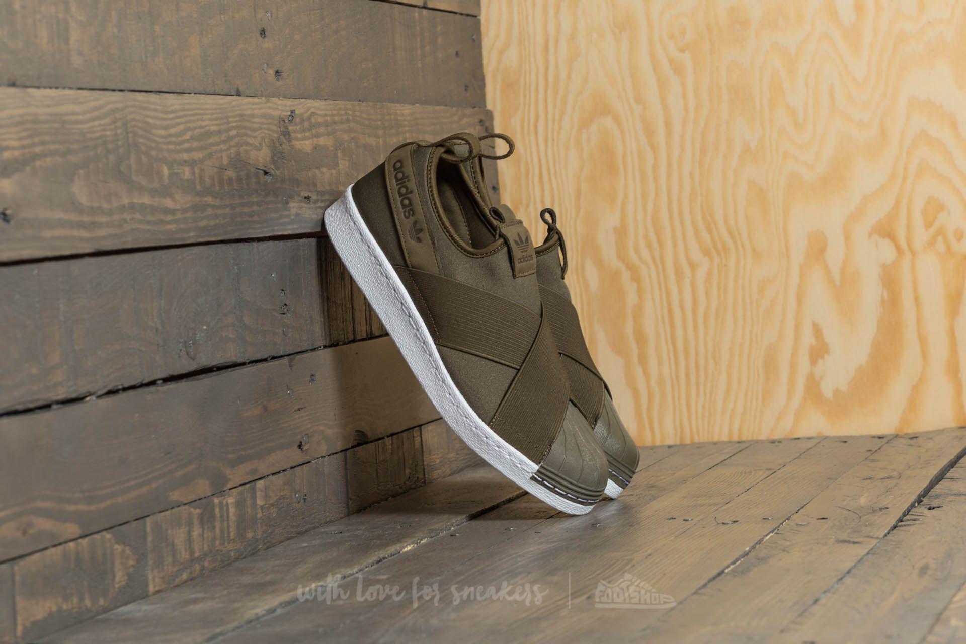 adidas Superstar SlipOn Trace Olive/ Trace Olive/ Ftw White Venta Barata En Línea Compra En Línea Comprar OpfkKb