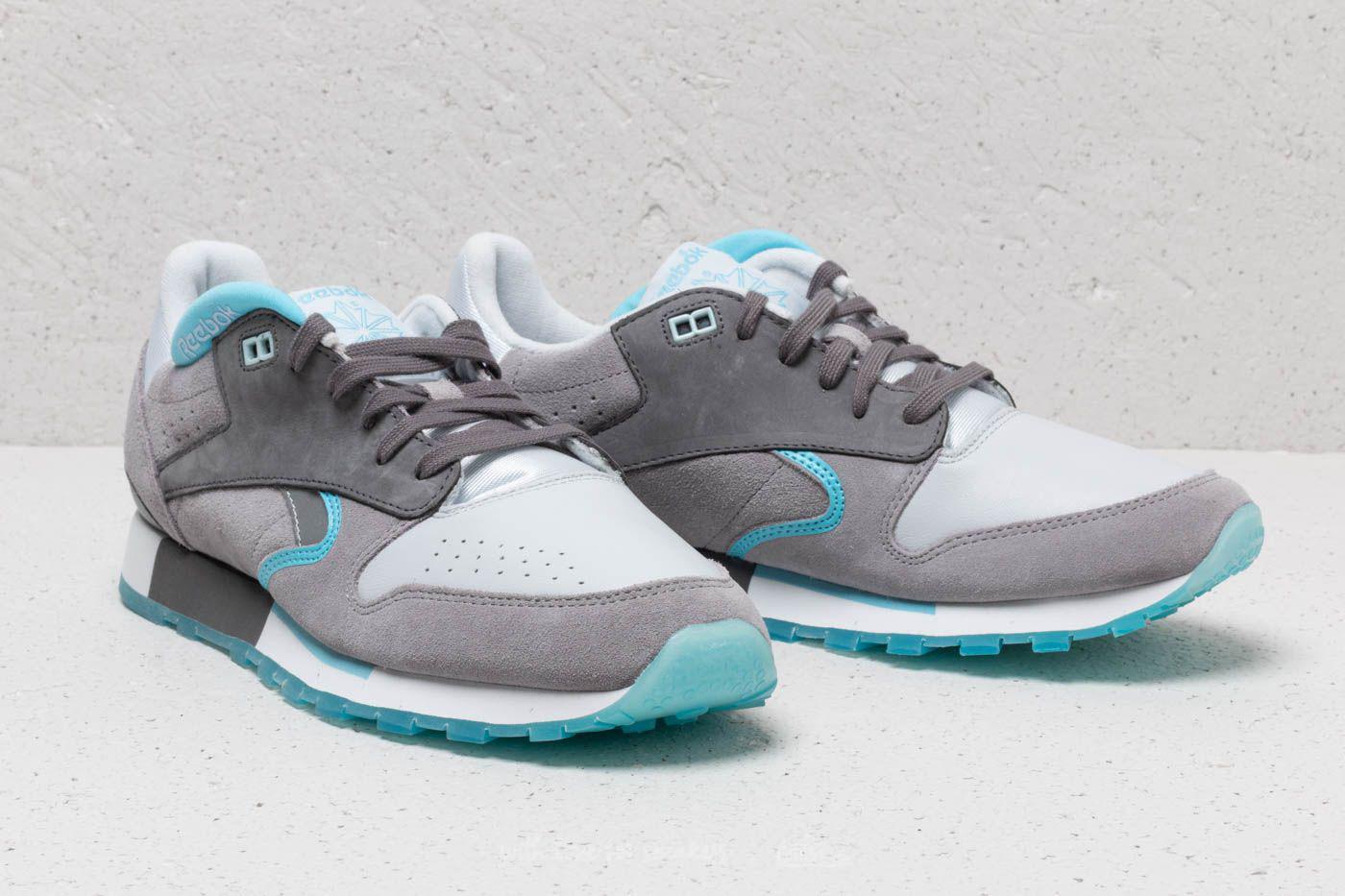 Lyst - Reebok Leather Urge White  Grey  Digital Blue for Men 25c9c6901