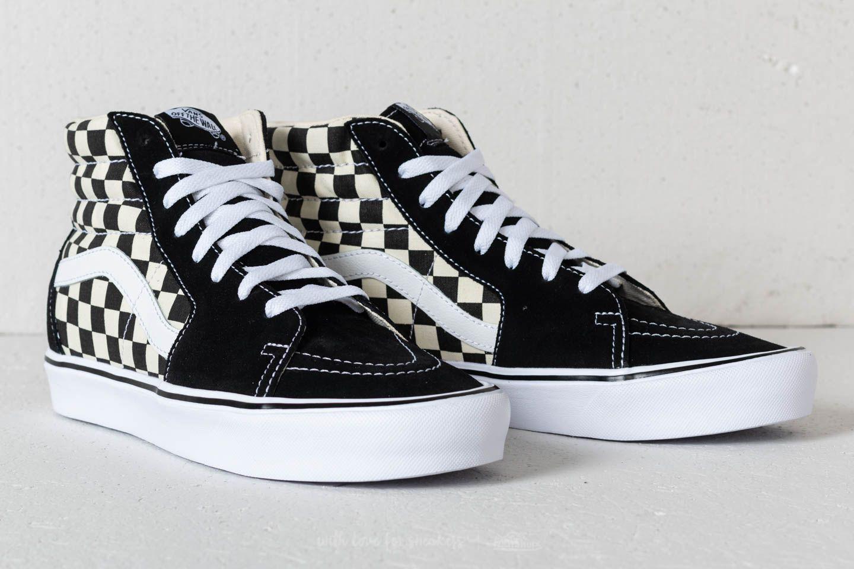 f91da58122b3d9 Lyst - Vans Sk8-hi Lite (checkerboard) Black  White in Black for Men