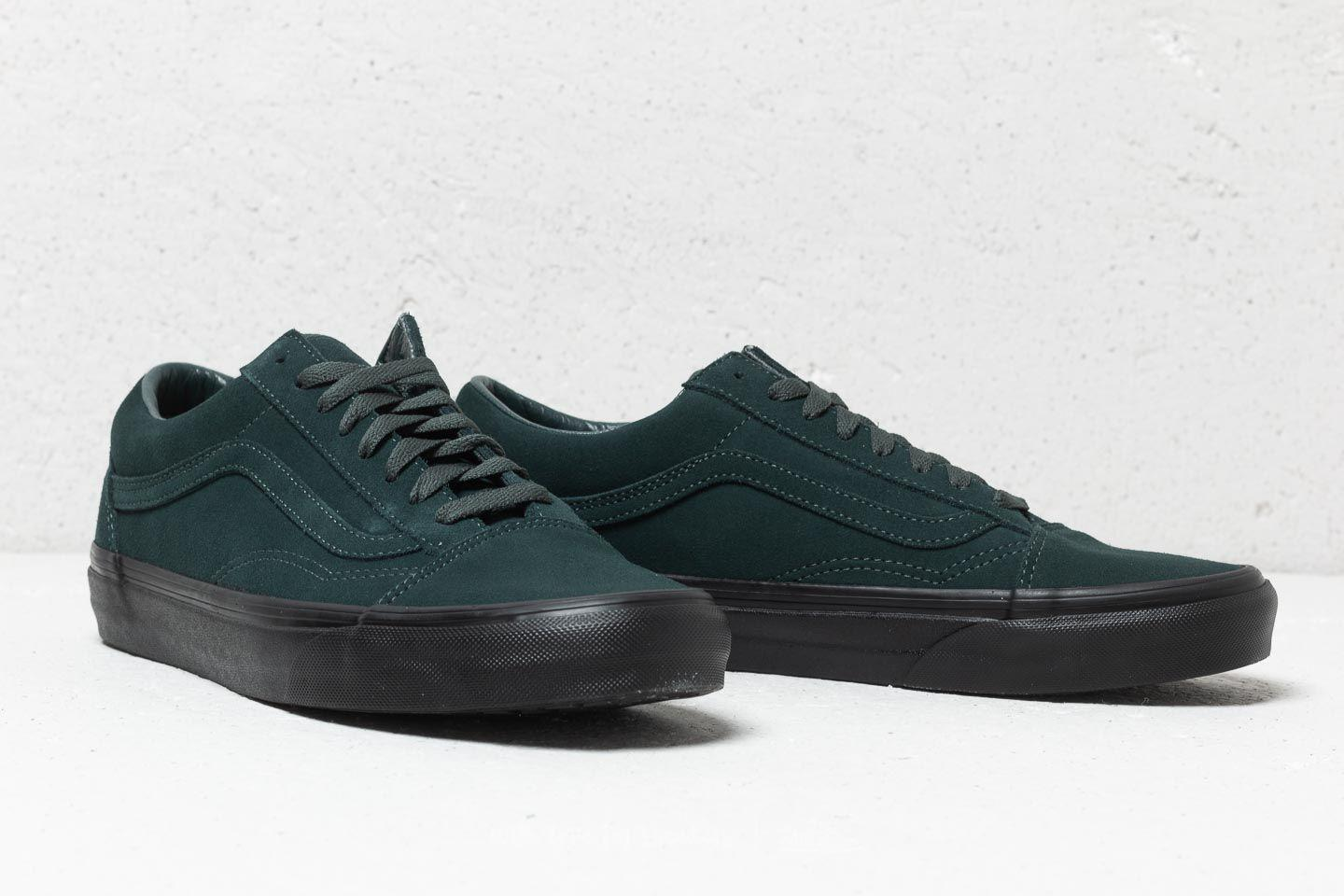 Lyst - Vans Old Skool (black Outsole) Darkest Spruce  Black in Black ... 0da1b3613