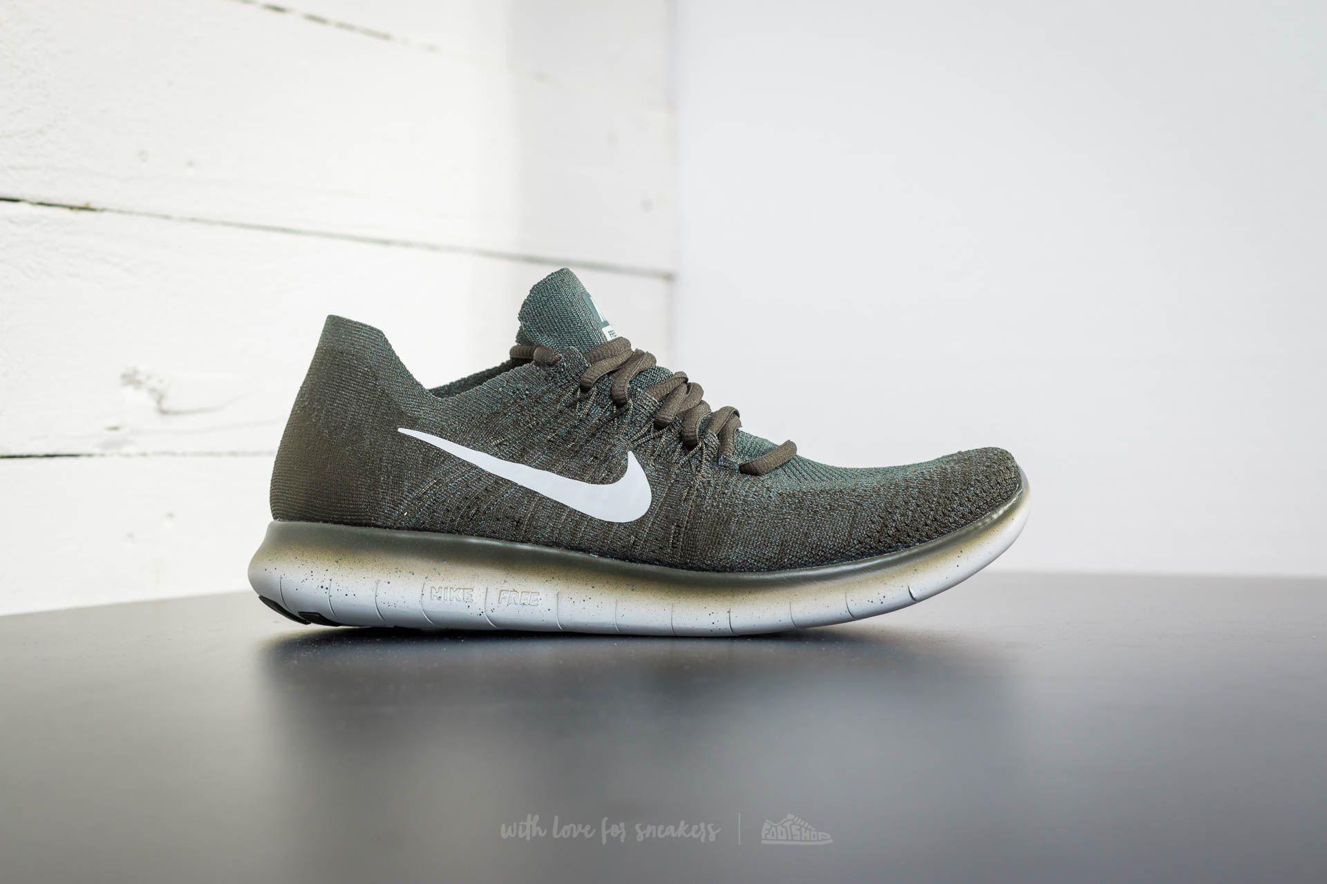 050e7311b811e Lyst - Nike Free Run Flyknit 2017 Vintage Green  Pure Platinum in ...