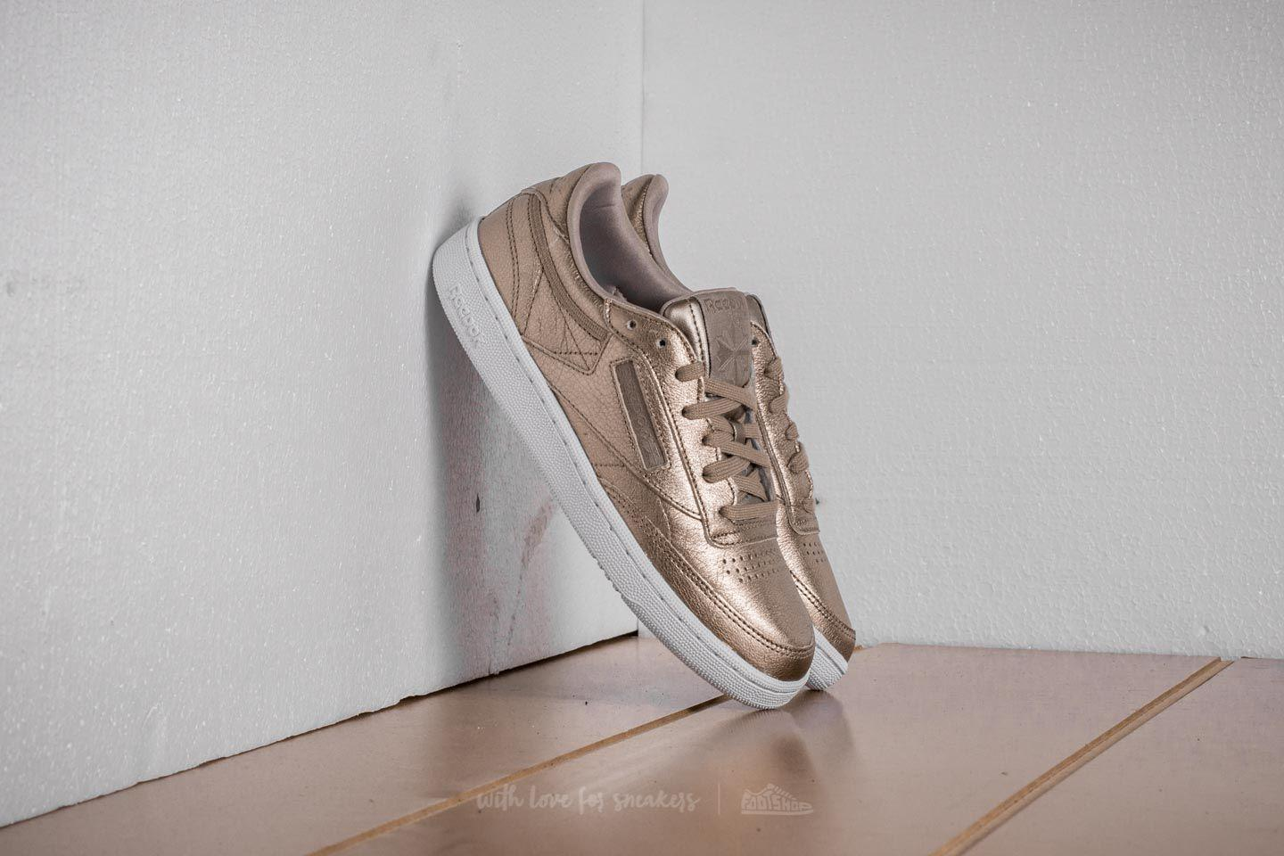 ffa0c52ed5a Lyst - Reebok Reebok Club C 85 Melted Metal Pearl Met-grey Gold ...