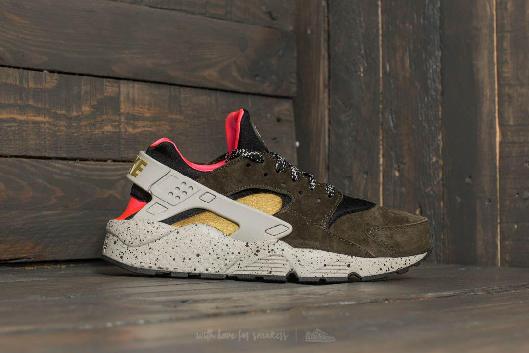 new product 8983d 2aee1 Nike Air Huarache Run Premium Black  Desert Moss-solar Red for Men ...