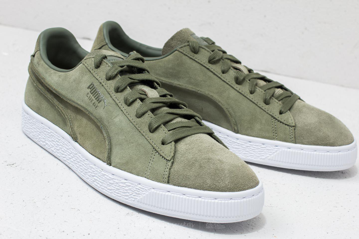 bf81067a0bf Lyst - PUMA Suede Classic Exposed Seams Capulet Olive in Green for Men